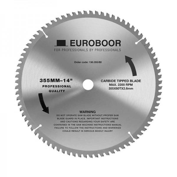 Циркулярен диск 355 mm (25.4) 80T (x2.6) за стомана и алуминий (130.355/80) от www.magbor.com