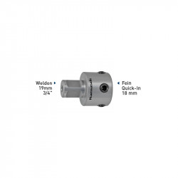 Адаптер Weldon 19.05 mm (6,34) - Fein Quick-IN 18 mm