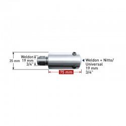 Удължител  75 mm Weldon 19 (7,98) - Weldon, Nitto/Universal 19