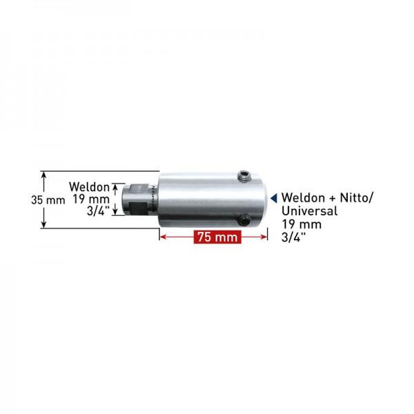 Удължител  75 mm Weldon 19 (7,98) - Weldon, Nitto/Universal 19 (201402) от www.magbor.com