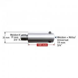 Удължител 100 mm Weldon 19 (7,98) - Weldon, Nitto/Universal 19