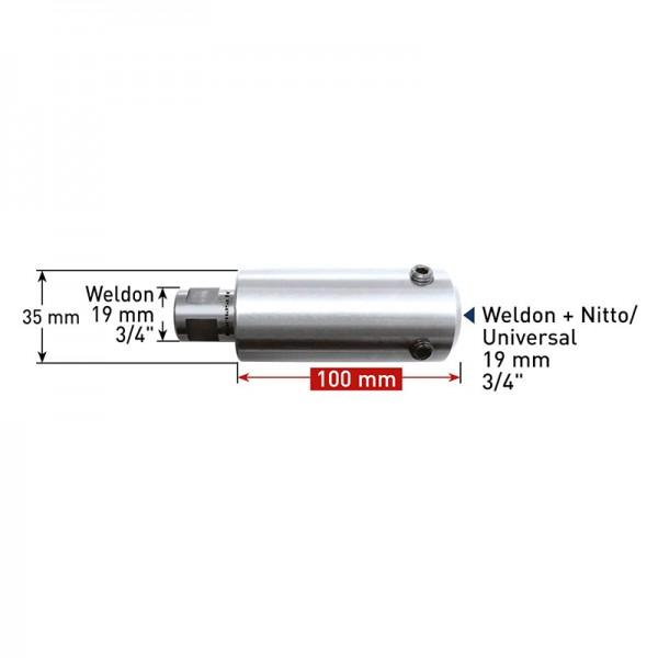 Удължител 100 mm Weldon 19 (7,98) - Weldon, Nitto/Universal 19 (201417) от www.magbor.com