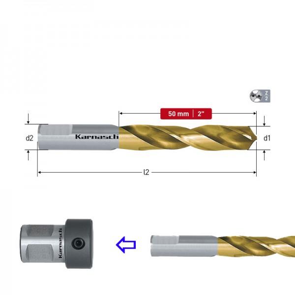 Свредло спирално, за държач, HSS-Co TIN (Ø 2.5 - Ø 12.0) (201840) от www.magbor.com