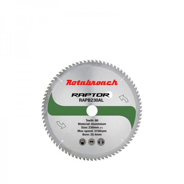 Циркулярен диск 230 mm (25.4) 80T (x2.0) за алуминий Raptor (RAPB230AL) от www.magbor.com
