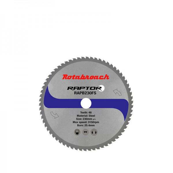 Циркулярен диск 230 mm (25.4) 48T (x2.0) за стомана Raptor (RAPB230FS) от www.magbor.com