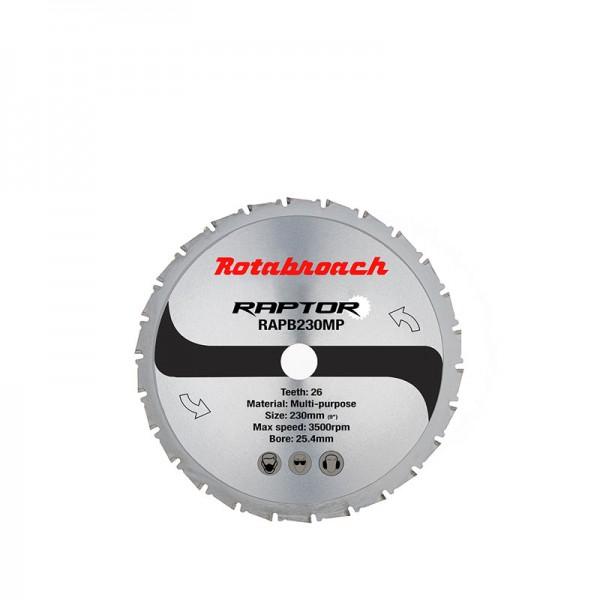 Циркулярен диск 230 mm (25.4) 26T (x1.8) многоцелеви Raptor (RAPB230MP) от www.magbor.com