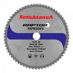 Циркулярен диск 355 mm (25.4) 66T (x2.4) за стомана Raptor