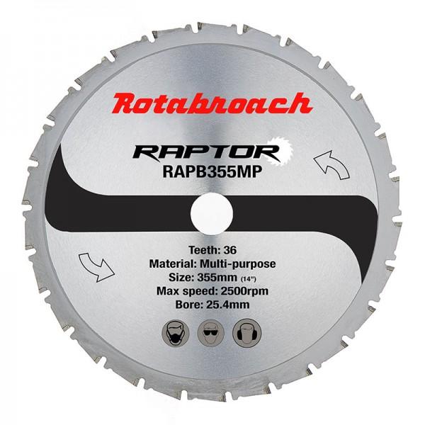 Циркулярен диск 355 mm (25.4) 36T (x2.4) многоцелеви Raptor (RAPB355MP) от www.magbor.com