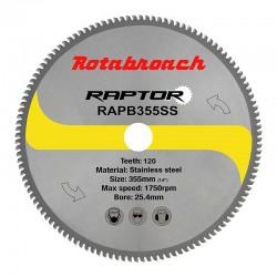 Циркулярен диск 355 mm (25.4) 120T (x2.4) за неръждаема стомана Raptor